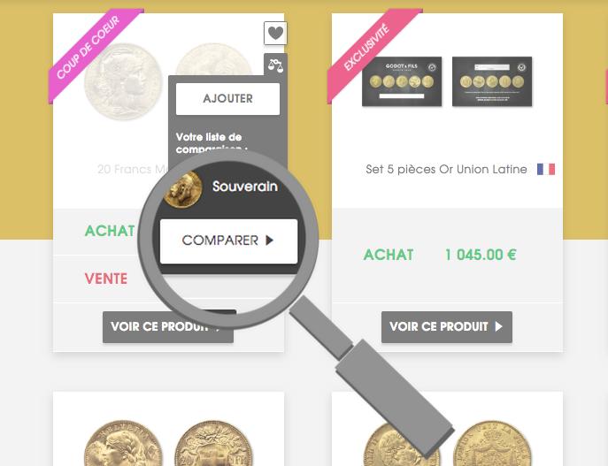Comment comparer vos pièces or et argent